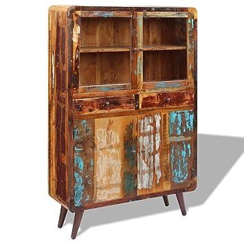 Vidaxl Vidaxl credenza armadio armadio in legno di recupero 120x 38x 180cm