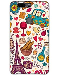Huawei Honor V8 Back Cover Designer Hard Case Printed Cover