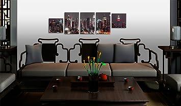 a impression sur toile 100x30 100x30 cm 5 parties image image sur toile images. Black Bedroom Furniture Sets. Home Design Ideas