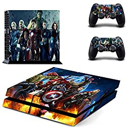 Elton Marvel AvengersTheme Skin Cover for PS4 Console and Controllers