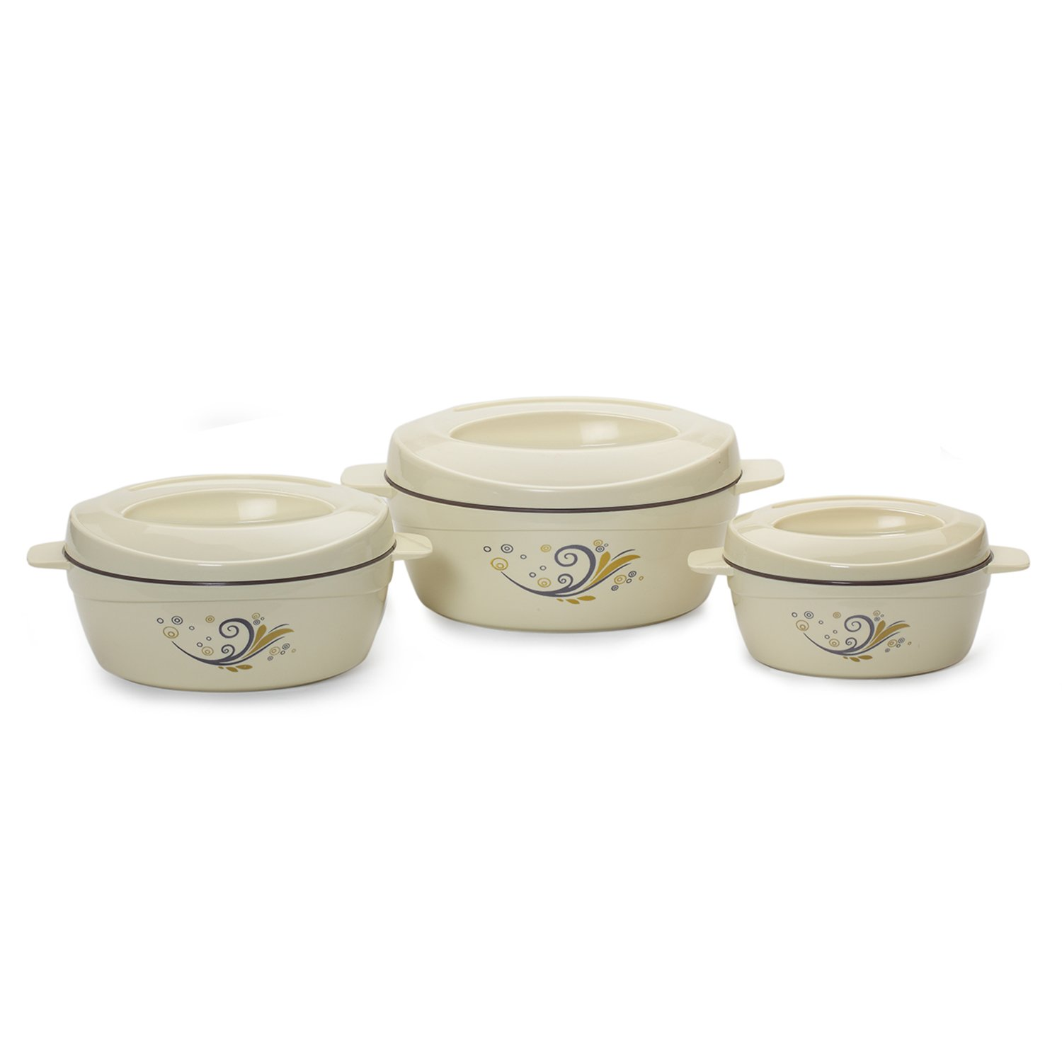 Cello Cuisine Insulated Casserole Gift Set, 3-Pieces, Ivory