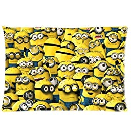 Designed Minions Custom Zippered Home Decorative Lovely Pillow Cases 16x24 (Two sides)