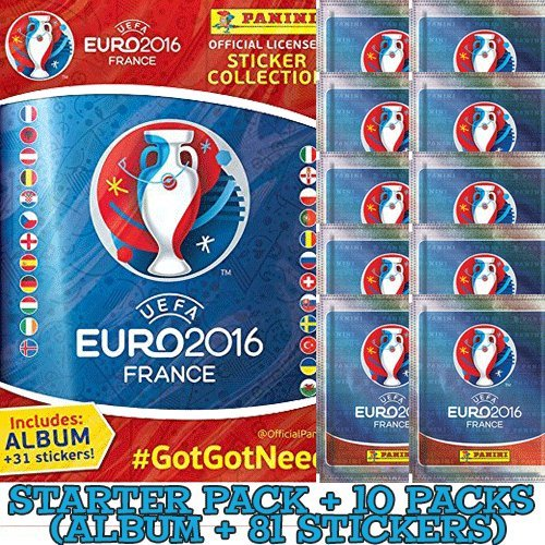 Panini UEFA Euro 2016 France sticker collection starter pack (incl Album + 81 stickers)
