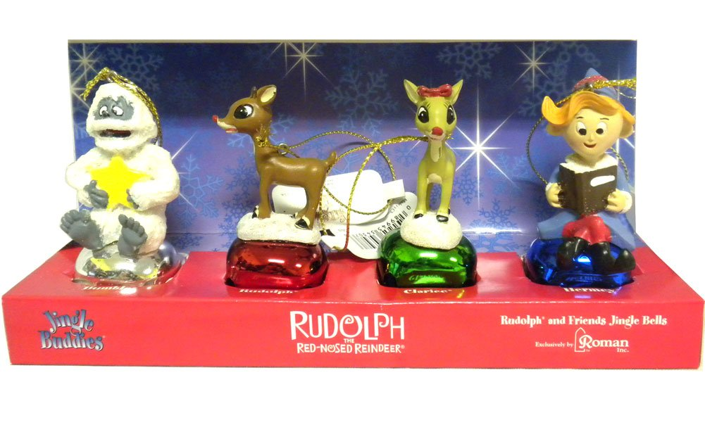 Rudolph the red nosed reindeer jingle buddies ornaments by