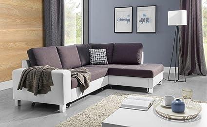 Couchgarnitur Couch BARRI mit Schlaffunktion Sofa Polsterecke Wohnlandschaft