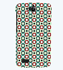 Printvisa Premium Back Cover Green And Blue Square Pattern Design For Huawei Honor Holly