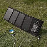 Poweradd™ 14W Foldable Solar Panel Portable Solar Charger for iPhone 6 Plus 6 5S 5C 5 4S, iPads, iPods, Samsung Galaxy Series Phones, Tablets, Android Phones, GPS, eReaders, Bluetooth Speakers, Gopro Cameras and Many Other 5V USB-Charged Devices