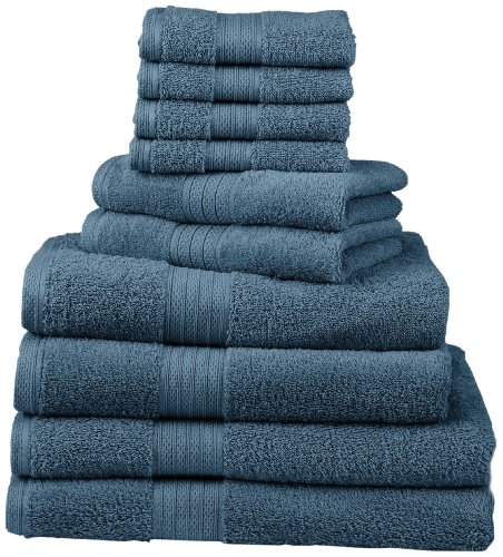 Divatex Home Fashions 540 GSM 12-Piece Deluxe Complete Towel Sets, Cobalt Blue