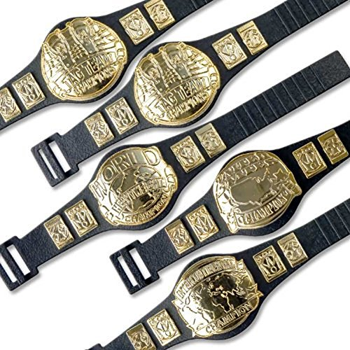 Wrestling Action Figure Championship Belt Special Deal: Set of 5 Belts (Wwe Weapons For Figures compare prices)