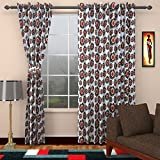 Seven Stars 1 Piece Cotton New Floral Pattern Window Curtain - 5 ft, Multicolour