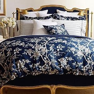 Amazon Com Ralph Lauren Navy Blue Deauville Floral