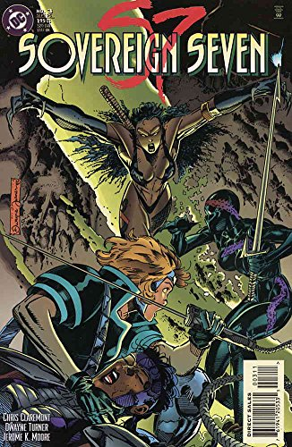 [Sovereign Seven #3 VF/NM ; DC comic book] (Costumes Kratos)