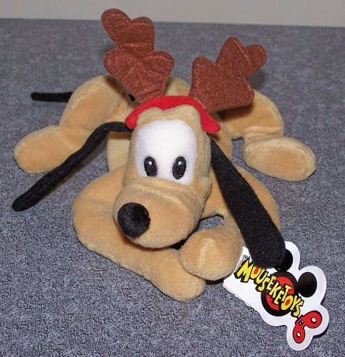 Disney's X-mas Mini Bean Bag Pluto 9""