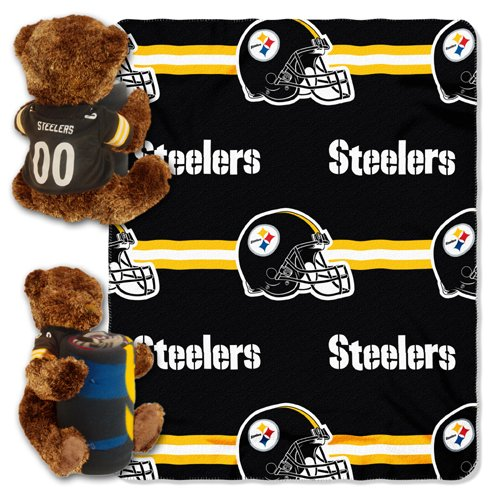 Northwest Pittsburgh Steelers Nfl Huggy Bear With Throw Combo Nor-1Nfl037000078Wmt front-488255