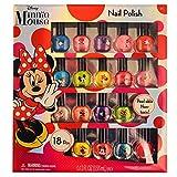 Disney Minnie Mouse Nail Polish Set [Includes 18 Pieces]