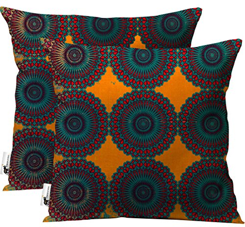 products ubu furniture. Boho Indoor/Outdoor Throw Pillow - Set Of 2 Orange Moroccan Patio Furniture Pillows Taj Mahal | UBU Republic (20X20) Products Ubu