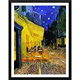 "Café Terrace By Van Gogh - Van Gogh Famous Oil Paintings Art Print - ""Top 10 Van Gogh Paintings"" Collection - Medium Size Premium Quality Ready To Hang Framed Art Print (14 Inches X 18 Inches) For Home And Office Interior Decoration By Ta"