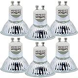 GU10 Halogen Light Bulb, MR16 Light Bulbs 120V/50W, Glass Cover & Dimmable, 500 Lumens Warm White, High Efficiency Halogen Flood Light Bulbs for Indoor (6 Pack) (Tamaño: 6 Pack)