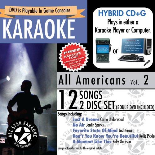 ASK 1558 All Americans Karaoke Karaoke Edge Bonus Karaoke DVD