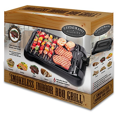 Smokeless Indoor Electric Grills ~ Smart planet sig‐ indoor smokeless bbq grill black home
