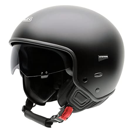 NZI 050248G067 City Center, Casque de Moto, Noir Mat, Taille : 57