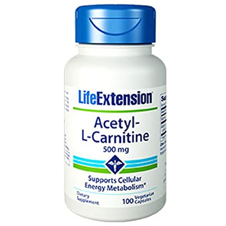 AcetylLCarnitine 500 mg 100 vegetarian capsules