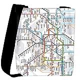 Snoogg London Tube Map Womens Carry Around Cross Body Tote Handbag Sling Bags