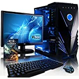 """VIBOX Standard Package 3A - 4.2GHz, Family, Desktop Gaming PC, Computer with WarThunder Game Bundle, Windows 10 Operating System, High Speed WiFi Internet Connection Adapter, 22"""" Monitor, LED Gamer Keyboard & Mouse PLUS a Lifetime Warranty Included* (New 3.9Ghz (4.2GHz Turbo) AMD, A8 Quad-Core Processor, AMD Radeon HD 8570D Graphics Card Chip, 1TB HDD Hard Drive, 8GB 1600MHz RAM)"""