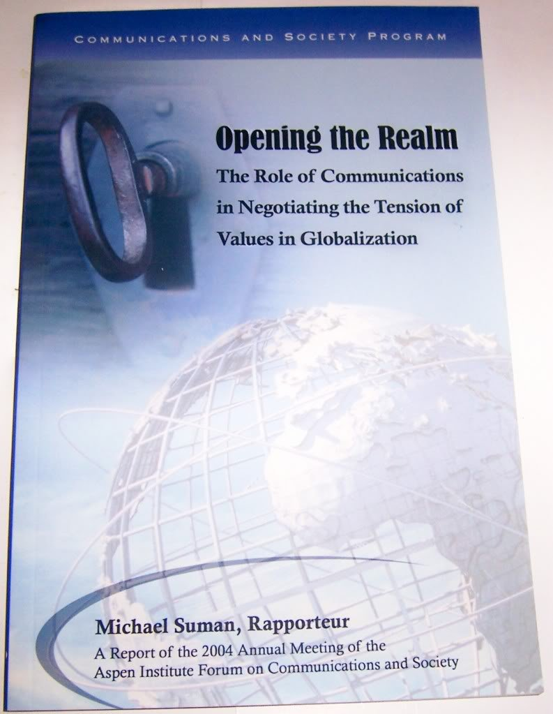 Opening the Realm: The Role of Communications in Negotiating the Tension of Values in Globalization, Suman, Michael