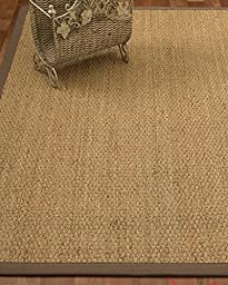 NaturalAreaRugs Maritime Seagrass Rug - Taupe, 2-Inch Wide Border, Eco-Friendly, 4-Feet by 6-Feet