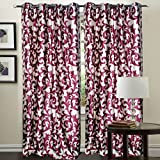 "Hargunz Eyelet Mesmerising Polyester Long Door Curtains - 108""x48"", Pack of 1 Curtain, Wine (KS040-1-3)"