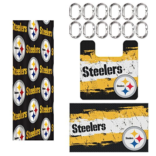 Pittsburgh Steelers 15 Piece Bath Set at Steeler Mania