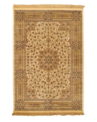 Mashad Kashmir Rug, Beige, 5' 2 x 7' 7 As You See