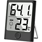 Cbiumpro Humidity Gauge Hygrometer Indoor Thermometer Digital Humidity Monitor for Living Room, Greenhouse, Wine Cellar, Basement, Gun safe, Bathroom, Closet, Humidor - Mini Version (Color: Hygrometer Indoor Thermometer (Black), Tamaño: Portable)