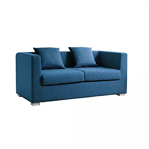 Design Twist Dorel Divano 2 Due Posti, Stoffa, Blu, 160 x 83 x 80 cm