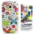 CaseiLike � Blumen - Leaf - Schmetterling, Snap-on wieder Geh�use f�r Samsung Galaxy S3 Mini i8190 mit Displayschutzfolie 1pcs.