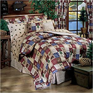 Flannel Comforters + Sheets - Lodge, Rustic Print - Queen - Clearance
