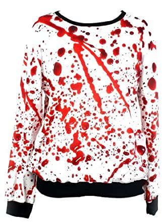 TDOLAH Galaxy Patterned Sweatshirts Printed Colorful Pullovers Women Sweaters (Free Size, blood)
