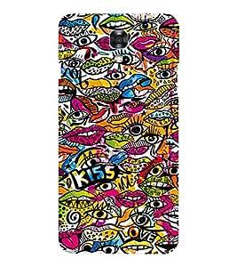 EPICCASE Kiss Pattern Mobile Back Case Cover For LG X Power (Designer Case)