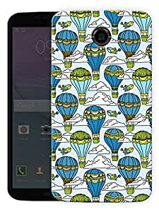 "Humor Gang Balloons In Clouds Sky Printed Designer Mobile Back Cover For ""Motorola Google Nexus 6"" (3D, Matte, Premium Quality Snap On Case)..."