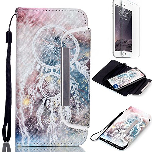 iPhone 6 6S Plus 5.5 inch Wallet Case,Nancy's shop Premium Ultra Slim Hybrid Series Scratch Proof Shock Absorbing PU Leather Flip Cover Folio with Foldable Stand Magnetic Card Holder Bumper (Bells)