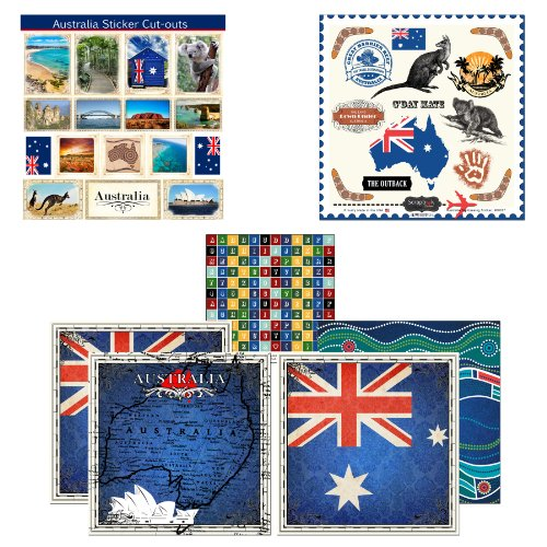 Scrapbook Customs Themed Paper and Stickers Scrapbook Kit, Australia Sightseeing