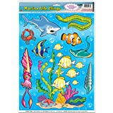 Marine Life Clings Party Accessory (1 count) (14/Sh)