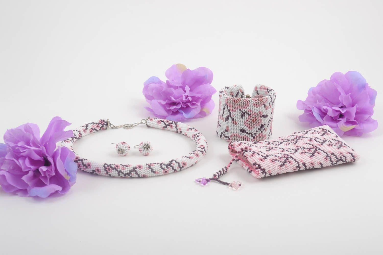 Handmade Ohrringe Handy Tasche Damen Armband Schmuck Collier aus Glasperlen online kaufen