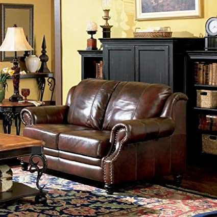 Coaster Home Furnishings Traditional Loveseat, Dark Brown
