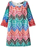 My Michelle Big Girls Printed Lace Sheath Dress, Red Multi, 14