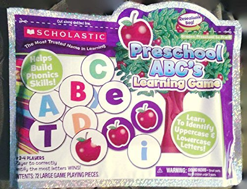 "Scholastic: ""Preschool Abc"" Learning Game (Gr:preschool-prek) 2-4 Players"