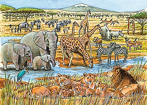 Cobble Hill Out of Africa Jigsaw Puzzle, 35-Piece