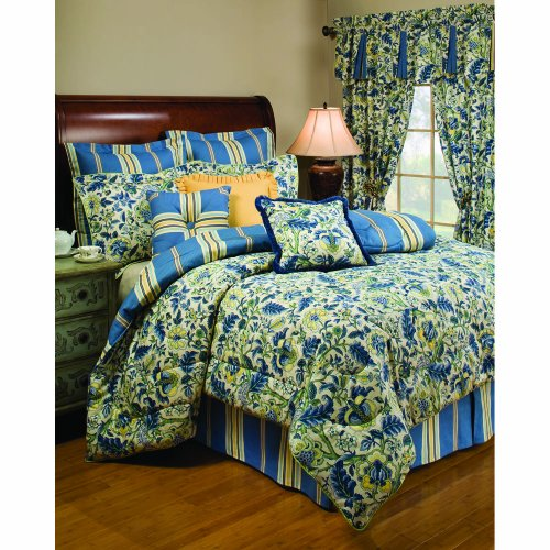 Waverly Imperial Dress Porcelain Queen Comforter Set front-9232