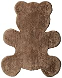 Harilla Designer Bear Tufted Cotton Bath Mat - Brown